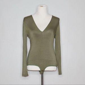 FINAL‼️ Bebe Bodysuit Olive Green Size Small